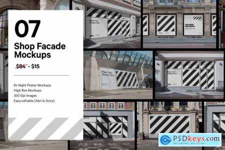 Shop Facade Mockup Bundle 5628815