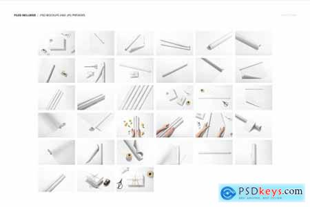 Gift Wrapping Paper Mockup Bundle 5645855