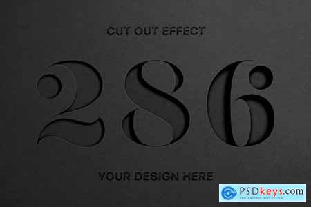 Cut Out Paper Text Effect 5648621