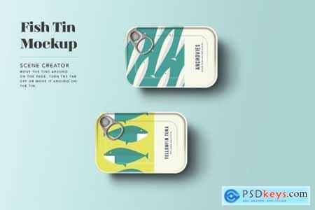 Sardine Tin Mockup 4890080