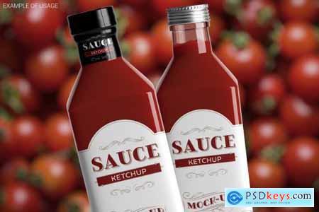 Sauce Bottle Mockup 4844082