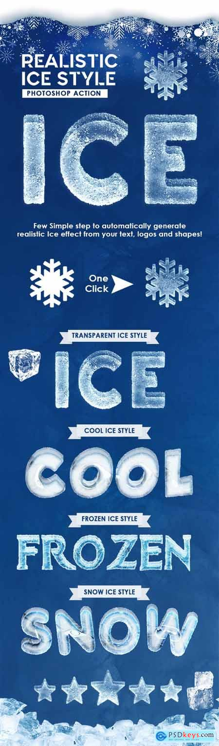 Realistic Ice Style - Photoshop Actions 29313503