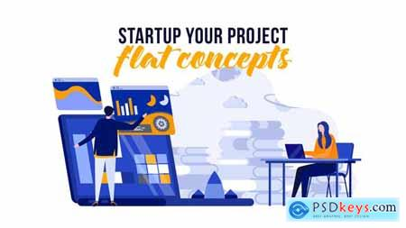 Startup your project - Flat Concept 29529360