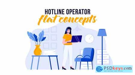 Hotline operator - Flat Concept 29529655
