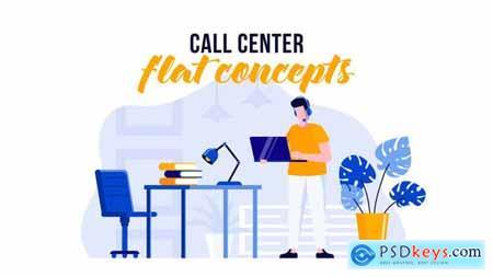 Call center - Flat Concept 29529523