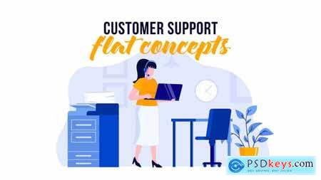 Customer support - Flat Concept 29529589