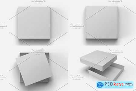 Square Box with Lid Mockups 10 Views 5652392