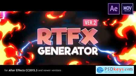 RTFX Generator [1000 FX elements] [After Effects + Pre-rendered clips] 19563523 (With 17 10 19 UPDATE) Free