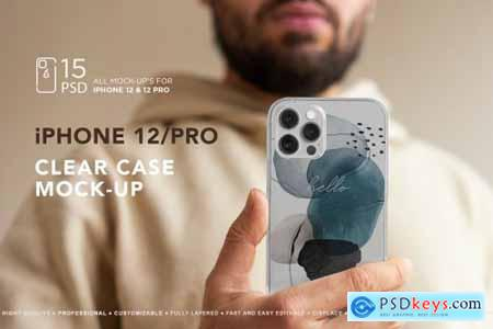 iPhone 12-Pro Clear Case MockUp 5639507
