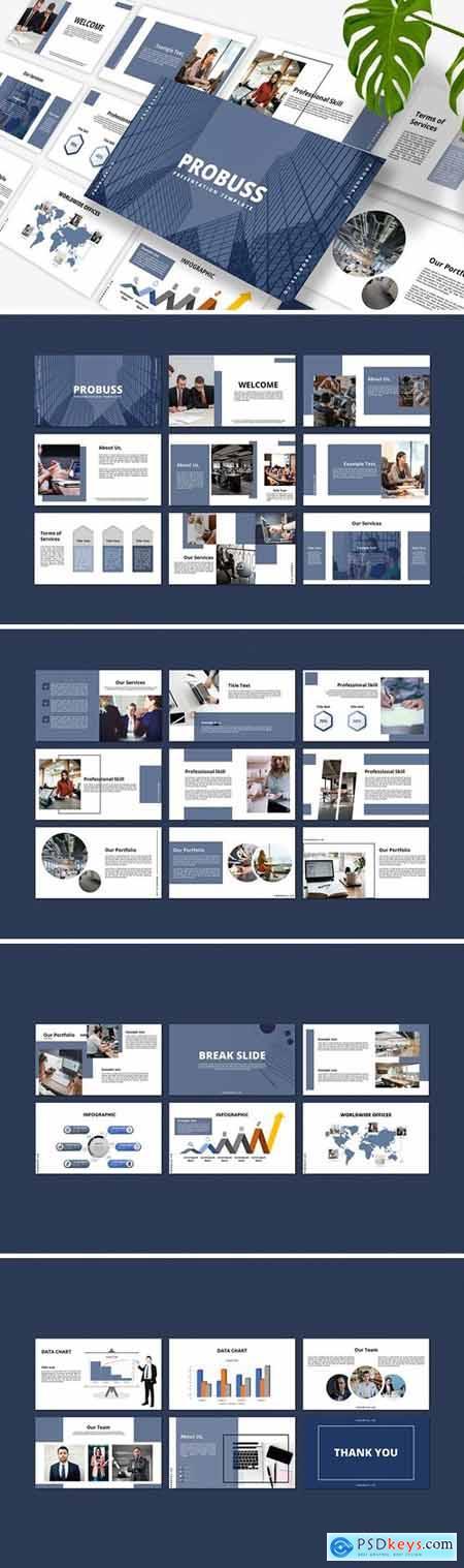 Probus - Business Powerpoint, Keynote, Googleslide Template