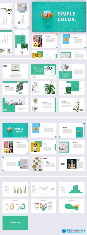 Simple Color Powerpoint, Keynote, Googleslide Template