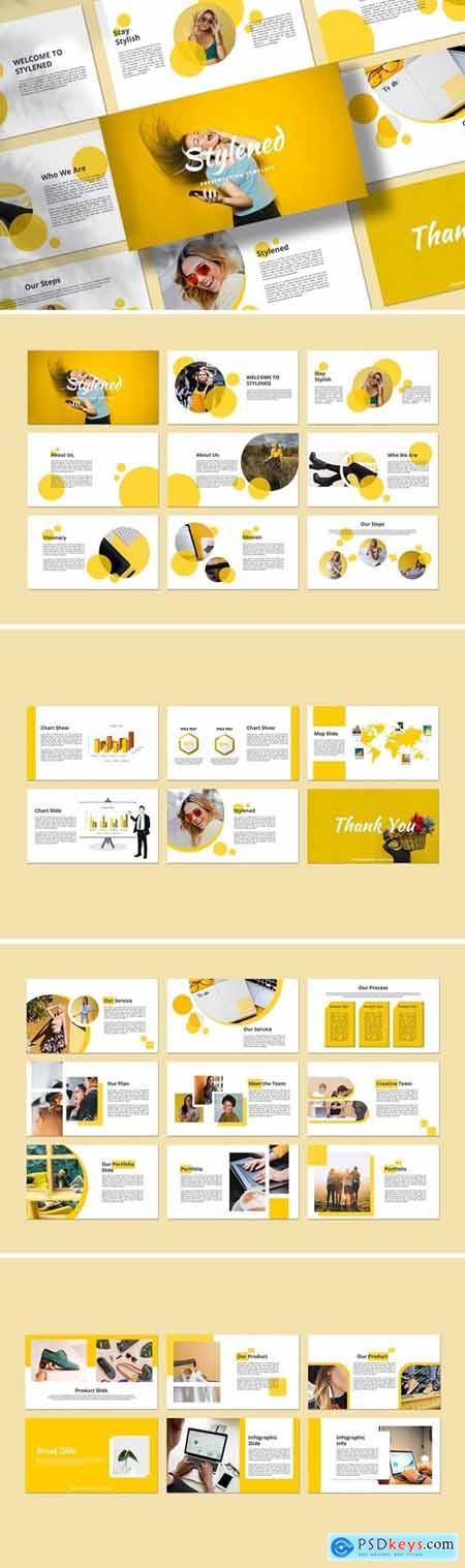 Stylened Powerpoint, Keynote, Googleslide Template