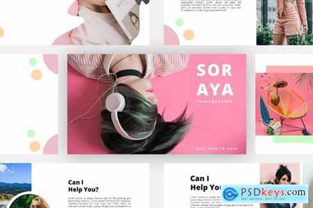 Soraya Powerpoint, Keynote, Googleslide Template