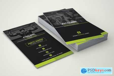 Fitness and Gym Center Business Card 4878216