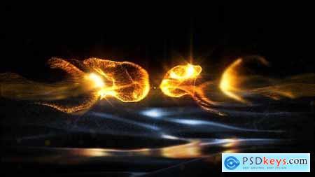 Gold Particles Logo - Premiere Pro - 29543522