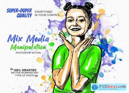 Mix Media Manipulation PS Action 5188492