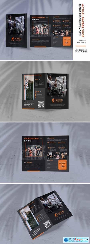 Barbershop Salon Bifold Brochure