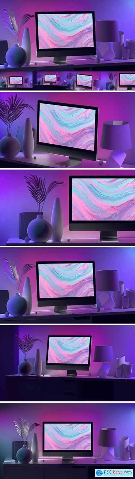 Violet iMac Mockups