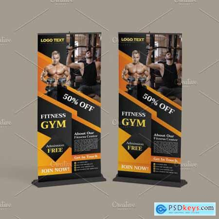Gym Fitness Advertising Roll up 5629669