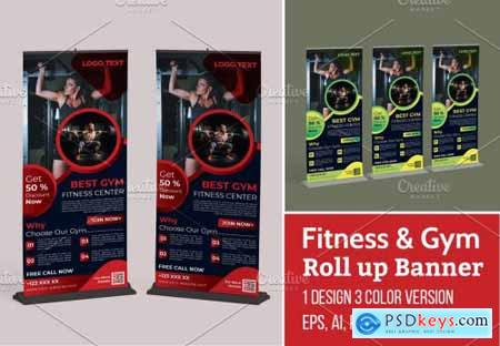 Creative Gym Roll up Banner Template 5629733