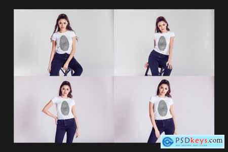 T-Shirt Mock-Up Set 4617722