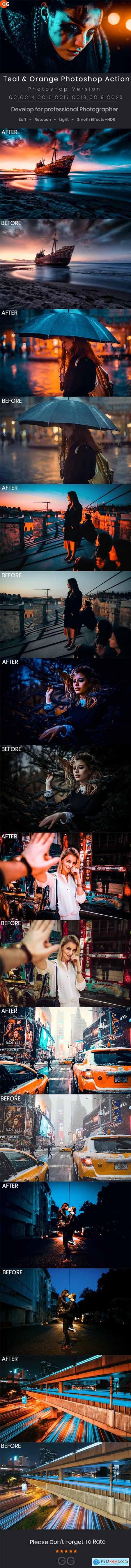 Teal & Orange Photoshop Action 28975559