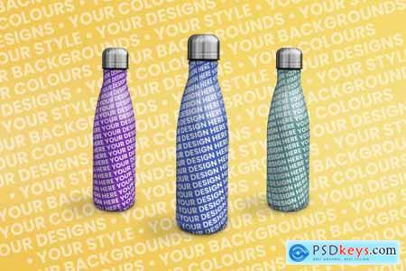 Water Bottle-Drinks Bottle Mock Up 5439890