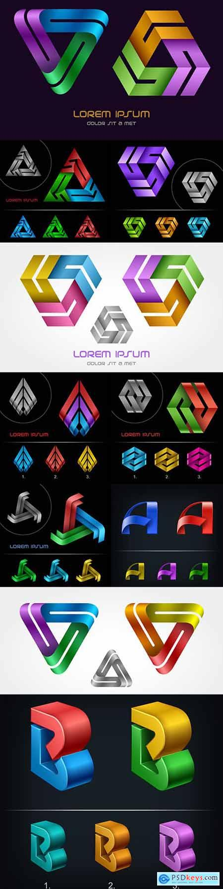 Logo triangle business abstract template design