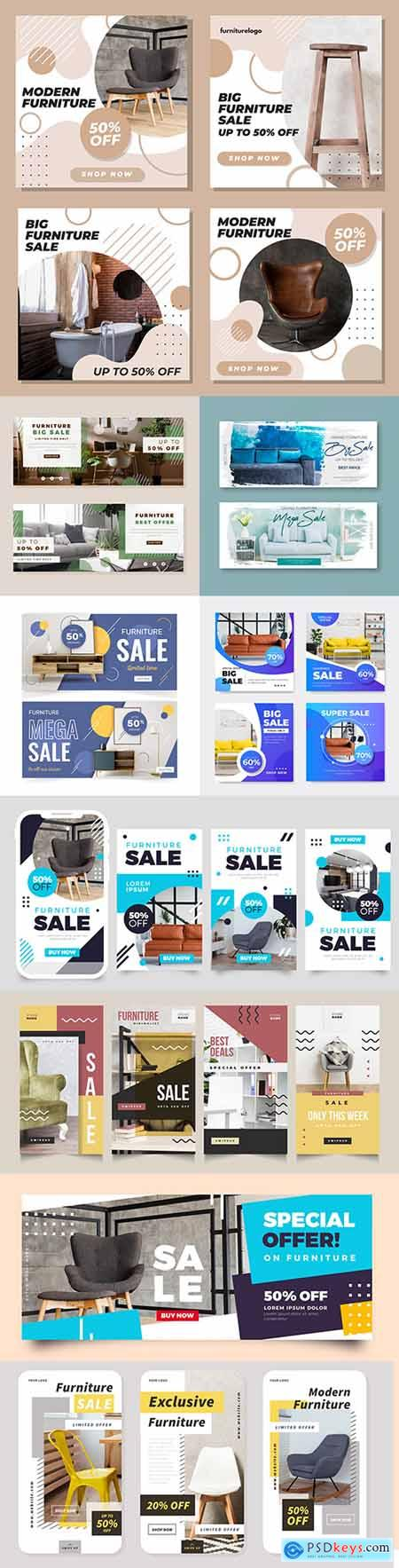 Furniture discounts and special offers design template