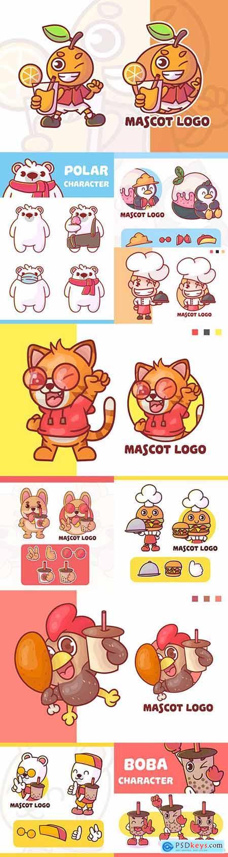 Emblem mascot and brand name logos design 23