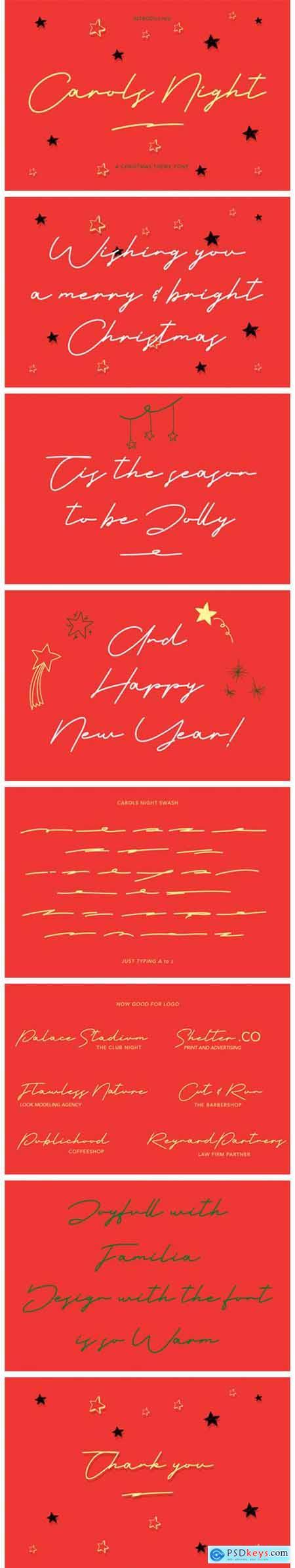 Carols Night Font