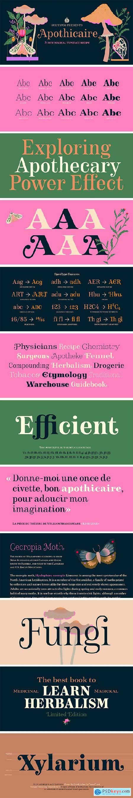 Apothicaire Font Family