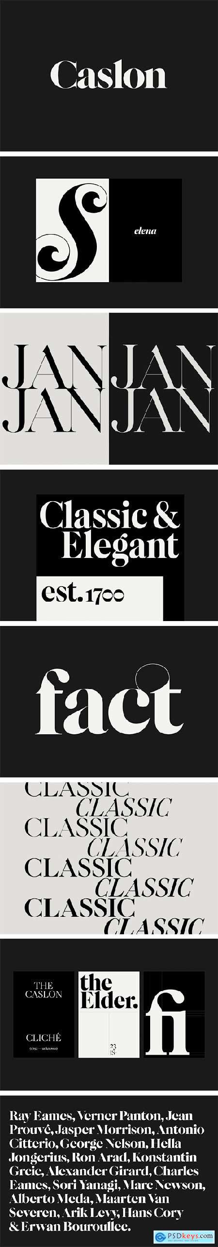 F37 Caslon Font Family