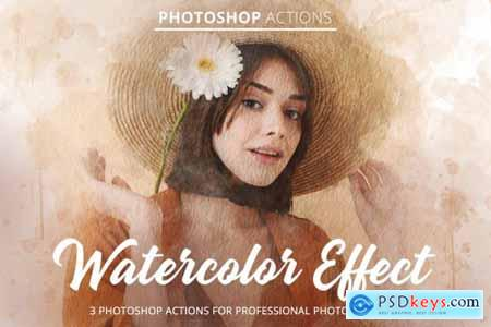 Watercolor Effect Actions for Ps 4848176