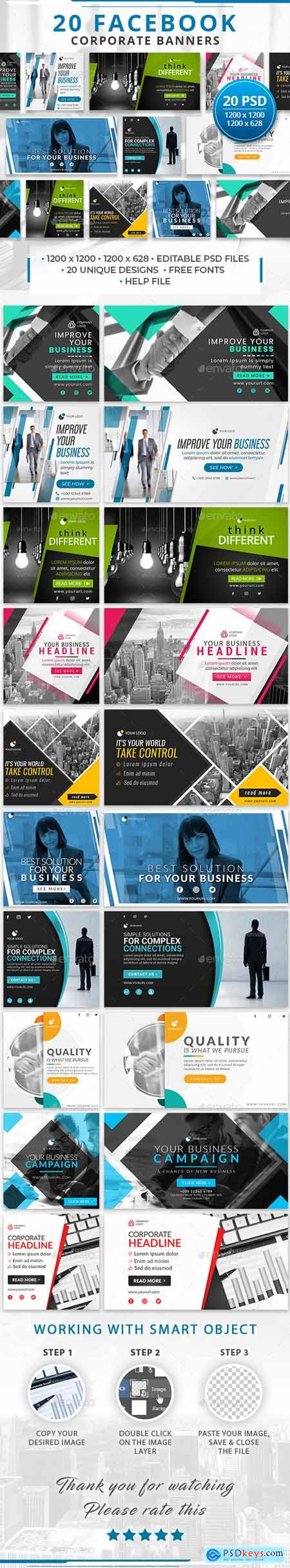 20 Facebook Corporate Banners 29391540