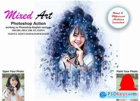 Mixed Art Photoshop Action 5461820