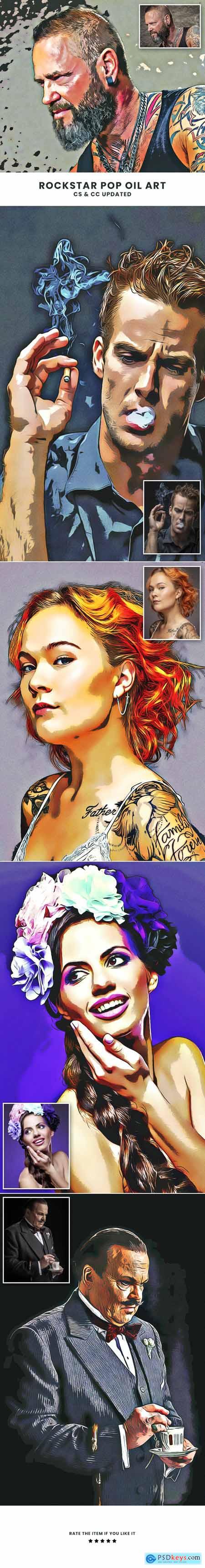Rockstar Pop Oil Art 29374411