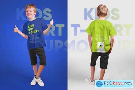 Kids Boy T-Shirt PSD Mockups Vol5 5336989