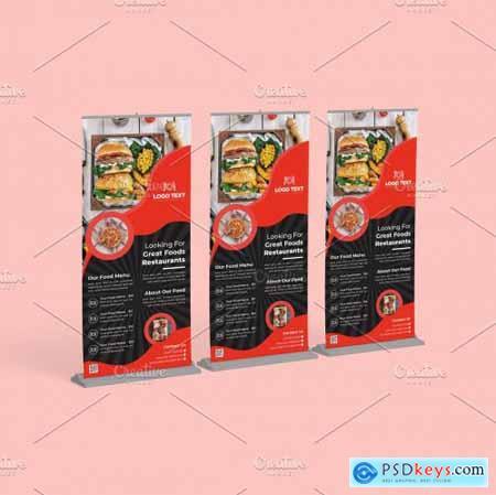 Fast Food Roll Up Banner Design 5635707