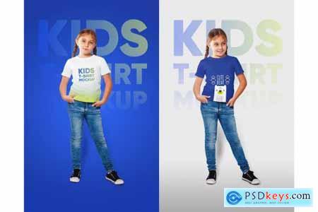 Kids Girl T-Shirt Mockups Vol2 Part2 5336841
