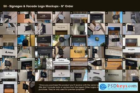 50 Signs & Facade Logo Mockups - V2 5516538