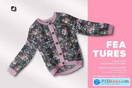 Top View Baby Sweater Mockup 5087832