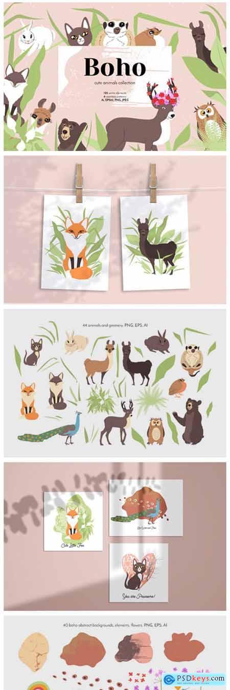Boho Cute Animals - Line Art 6771975