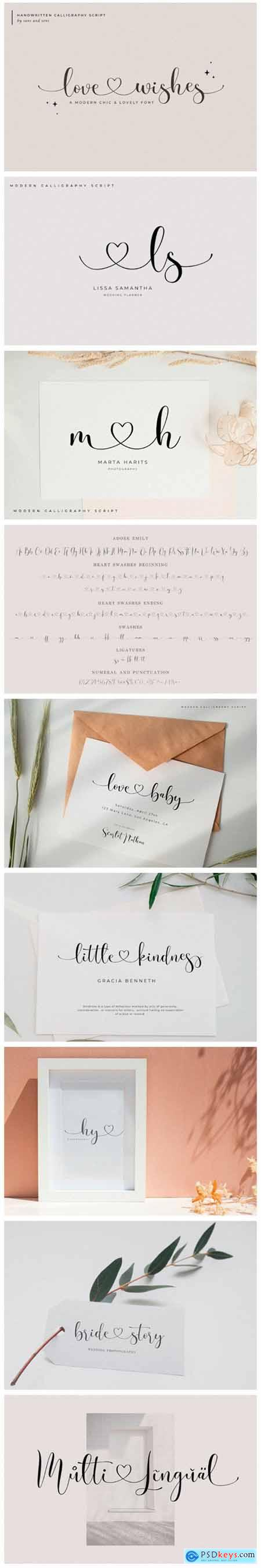 Love Wishes Font