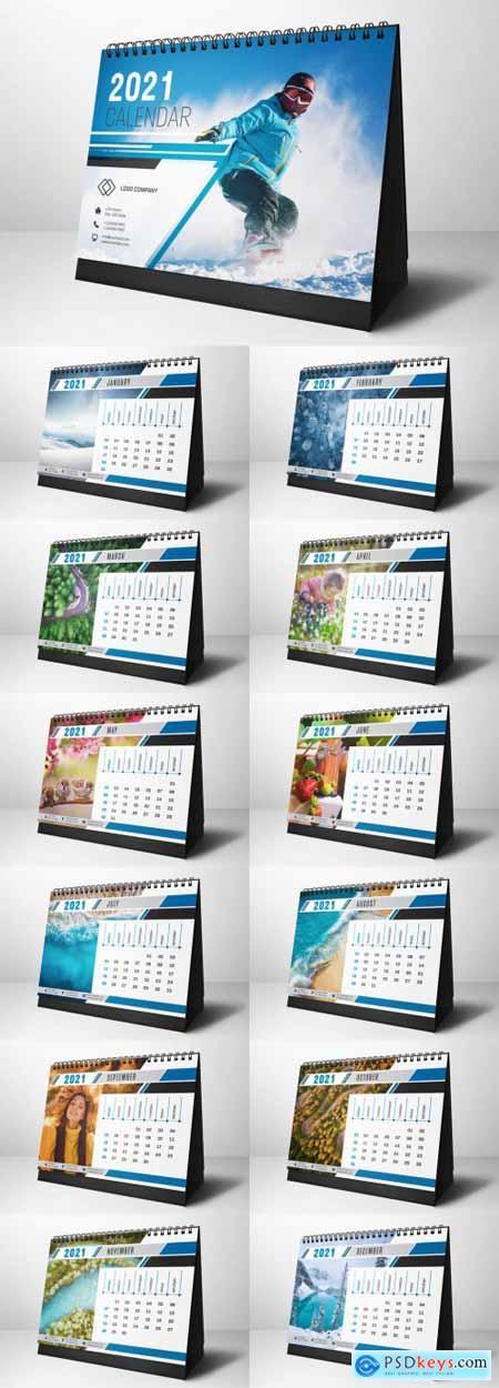 2021 Desk Calendar Layout 392950407