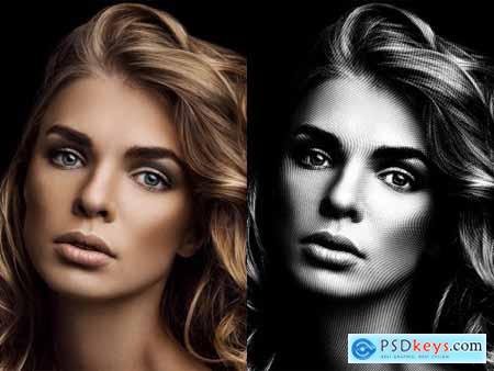 Halftone Photo Effect Mockup 393403875