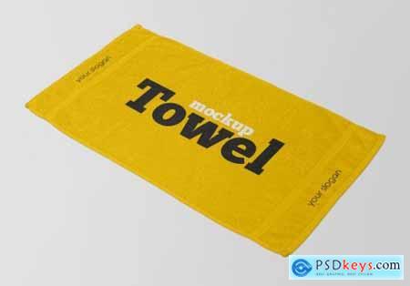 Close up on towel mockup