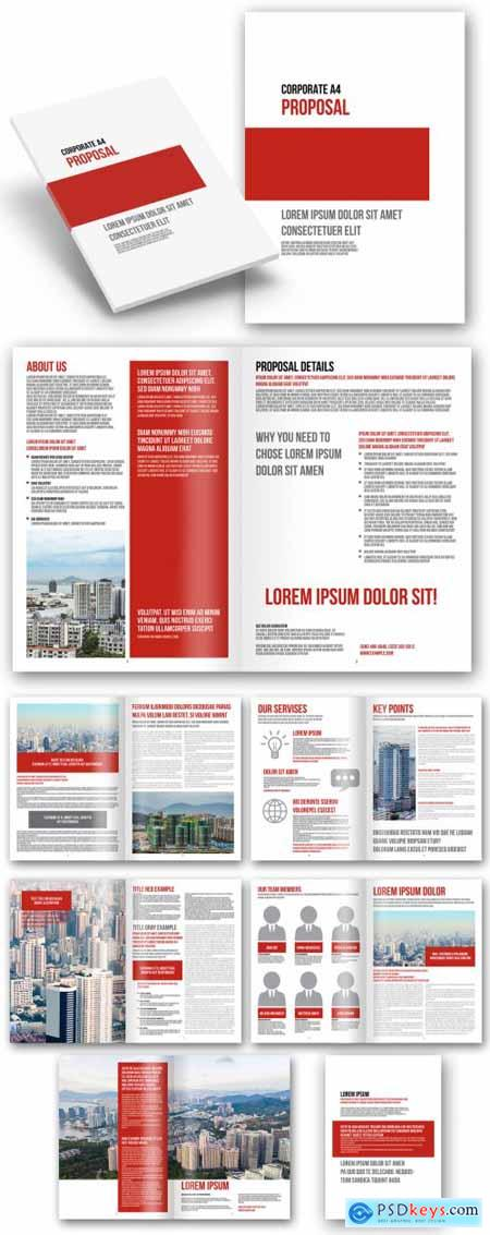 Corporate Proposal with Red Accents 392298191