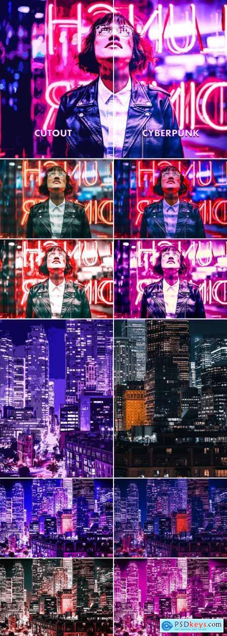 Cyberpunk and Cutout Effect 393402665