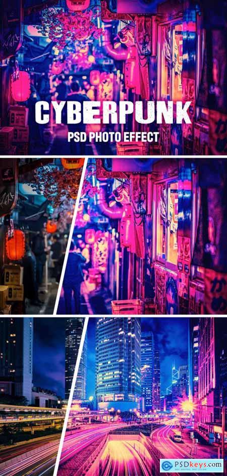 Cyberpunk Photo Filter 393719771